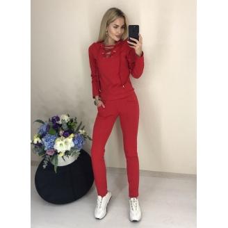 Женский трикотажный костюм со шнуровкой Redi