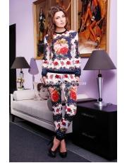Модный костюм из дайвинга с ярким принтом R3