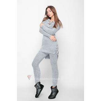 Вязаный женский костюм Knitting
