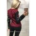 Куртка с кожаными рукавами Leather
