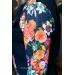 Бомбер женский с цветочным рукавом Flowers