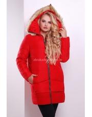Зимняя женская куртка с меховым капюшоном Fiona