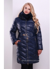 Длинная зимняя женская куртка Blue