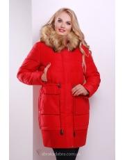 Зимняя длинная куртка-парка Red