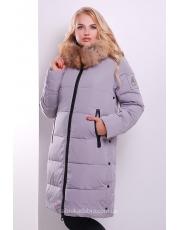 Стильная длинная зимняя куртка-парка со звездой на спине Star