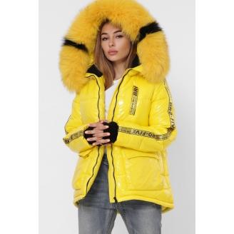 Женская лакированная куртка LS-8838