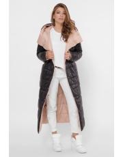 Двусторонняя длинная зимняя куртка LS-8848