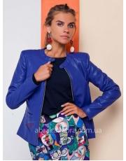 Куртка кожаная с декоративными деталями Mobi