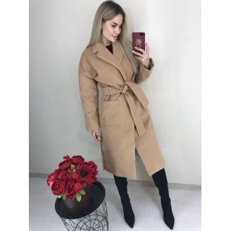 Женское пальто халат под пояс Nice