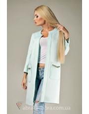 Удлинённый пиджак без пуговиц из неопрена Neo