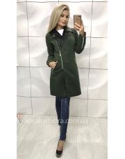 Пальто с кожаными вставками Adel