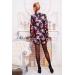 Короткое женское пальто из кашемира с цветочным принтом Rous