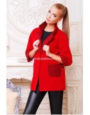 Короткое женское демисезонное пальто из кашемира Vista