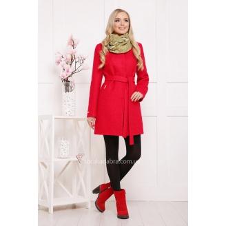 Шерстяное женское пальто с округлой горловиной Viven