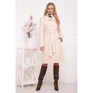 Женское приталенное пальто под пояс Mitchel