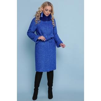 Длинное зимнее пальто с рукавом реглан Blue