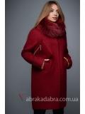 Зимнее пальто с меховым воротником прямого кроя с сумочкой Winter