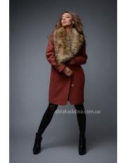 Зимнее пальто с меховым воротником Verona
