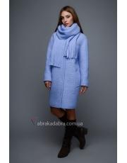 Зимнее женское пальто с шарфом Serena