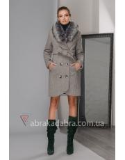 Зимнее пальто под пояс Gloria