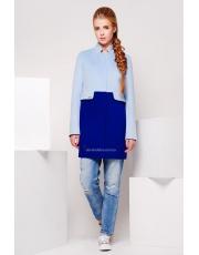Пальто двухцветное женское Duos