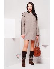 Стильное женское пальто со спущенным рукавом Miss