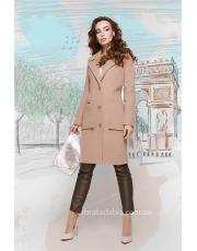 Женское пальто на пуговицах с накладными карманами Pocket