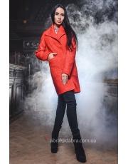 Стильное женское пальто с большим воротником Glori
