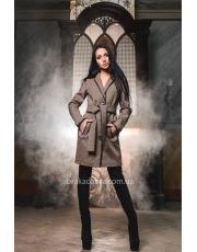Твидовое пальто под пояс Mia