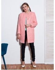 Пальто женское без воротника на кнопках Alis