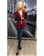 """Женский пиджак с кожаными вставками """"NOA"""""""