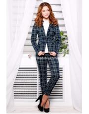 Трикотажный пиджак в модную клетку Edem