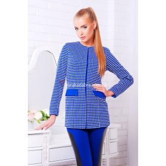 Женский удлиненный пиджак в клетку Smart