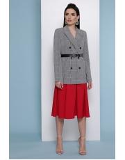 Женский двубортный пиджак в клетку Parker