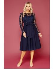 Расклешенное вечернее платье миди Evangelia