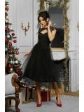 Расклешенное прозрачное платье Floriana