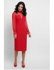 Платье с прозрачными рукавами Lukiana