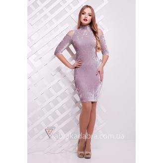 Велюровое платье с открытыми плечами Velvet