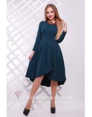 Расклешенное платье миди с асимметрией Free