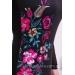 Вечернее платье бюстье длины миди с принтом вышивка Black