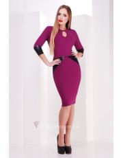 Платье с кожаными вставками Verona
