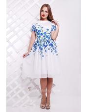 Белое платье в цветы Valery