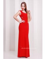 Красное длинное платье Roberta