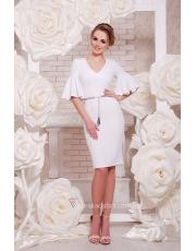 Платье с воланами на рукавах Linda