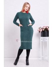 Трикотажное облегающее платье миди с карманами Gabriella