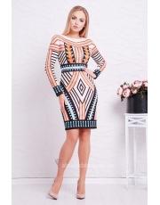 Облегающее платье в геометрический принт Lacing