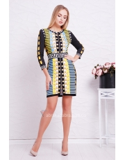 Мини платье с молнией Versace