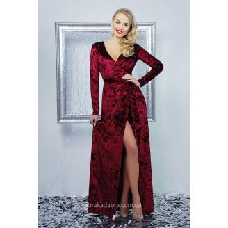 Велюровое платье с запахом Natella