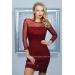 Облегающее платье с прозрачными вставками Agnia