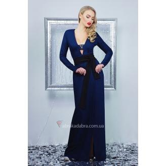Вечернее платье макси с декольте Eliska